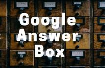 Google Answer Box - kas tai ir kaip ten patekti?